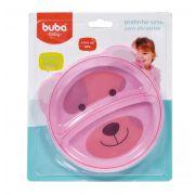 Prato Raso com Divisórias Urso Rosa - Buba Baby