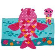 Toalha de Praia Infantil Peixe Pink - Stephen Joseph
