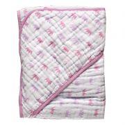 Toalha Soft Fralda Capuz  Coroas Rosa - Papi