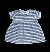 Vestido listrado marinho - Piu Blu