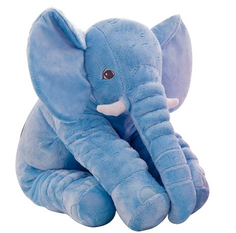 Almofada Elefante de Pelúcia Azul - Buba Baby