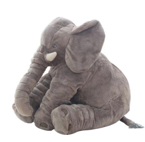 Almofada Elefante de Pelúcia Cinza - Buba Baby