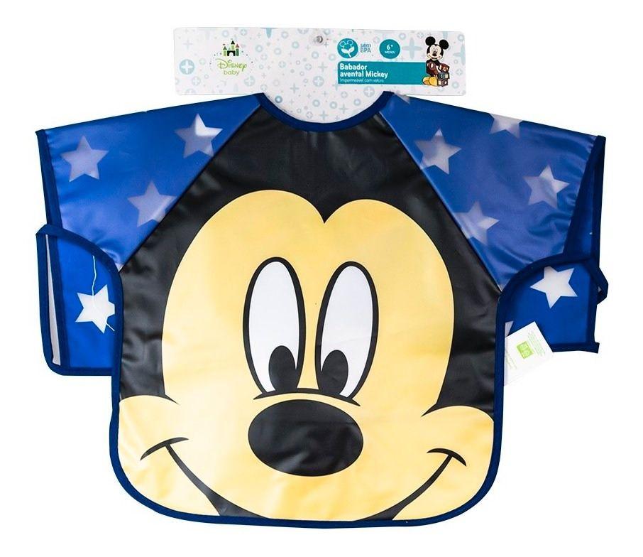 Babador Avental Mickey Azul - Girotondo Baby