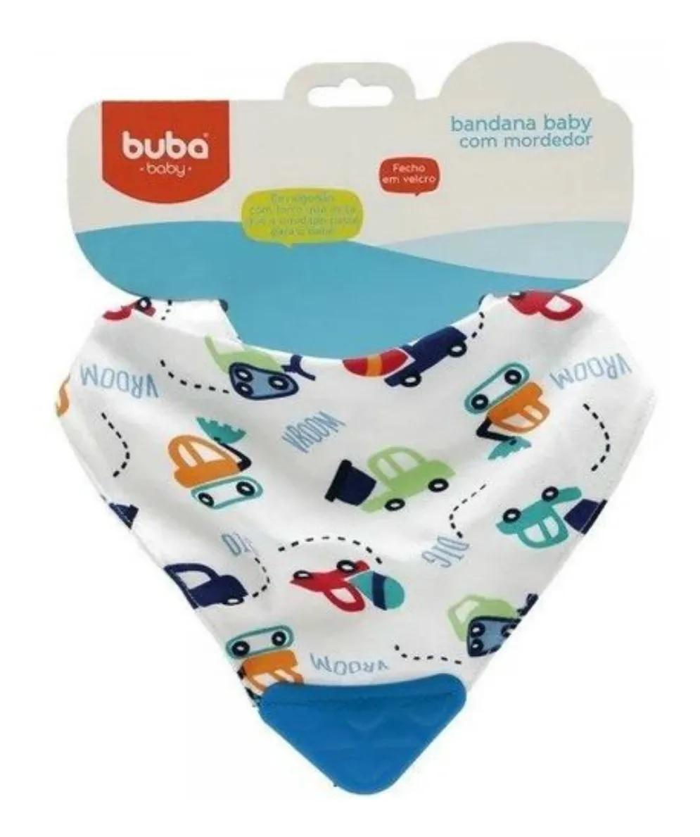 Babador com Mordedor de Silicone Carrinhos - Buba Baby