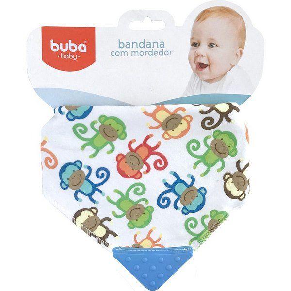 Babador com Mordedor de Silicone Macaco - Buba Baby