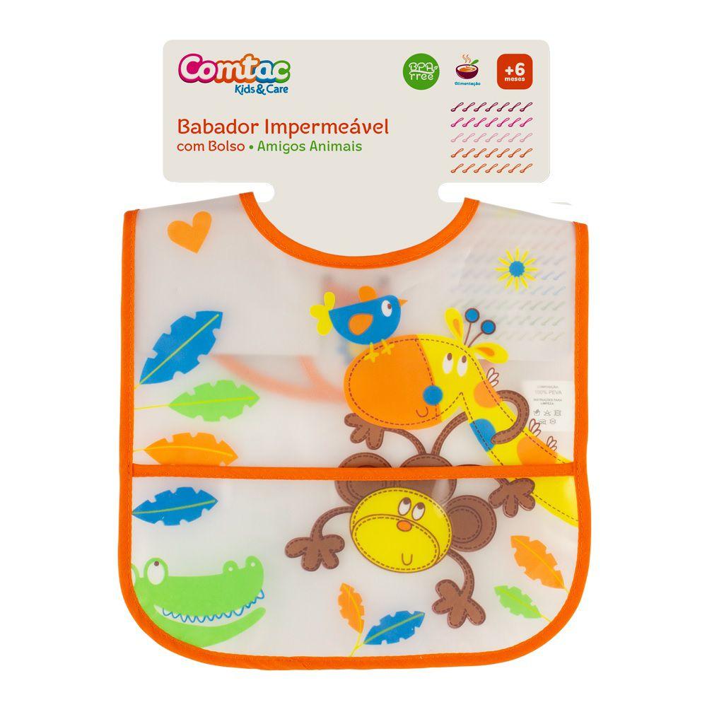 Babador Impermeável Amigos Animais - Comtac Kids