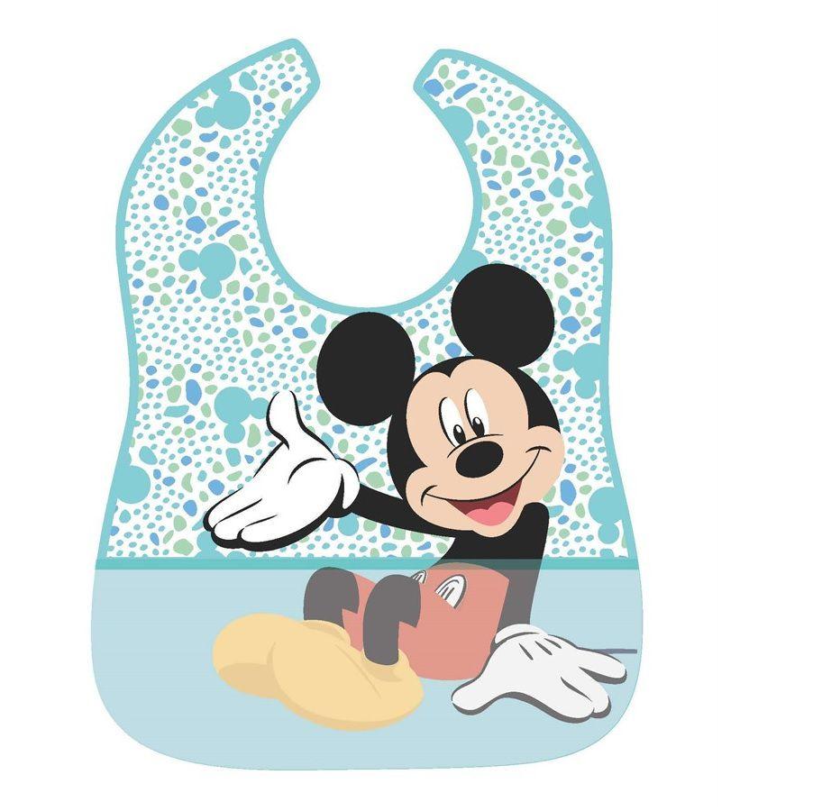 Babador Impermeável Mickey Azul - Girotondo Baby
