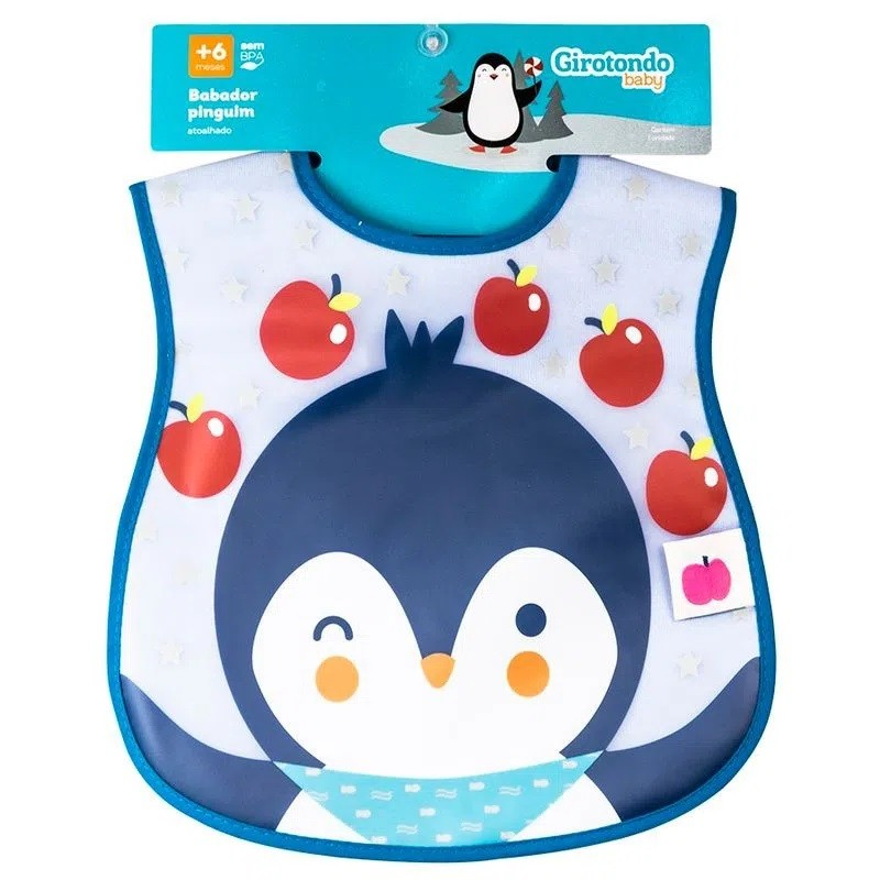 Babador Impermeável  Pinguim - Girotondo Baby