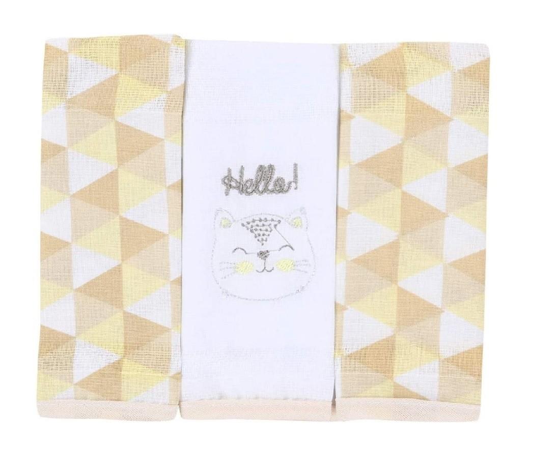 Babetes Paninhos de Boca Gato Amarelo - Baby Gijo