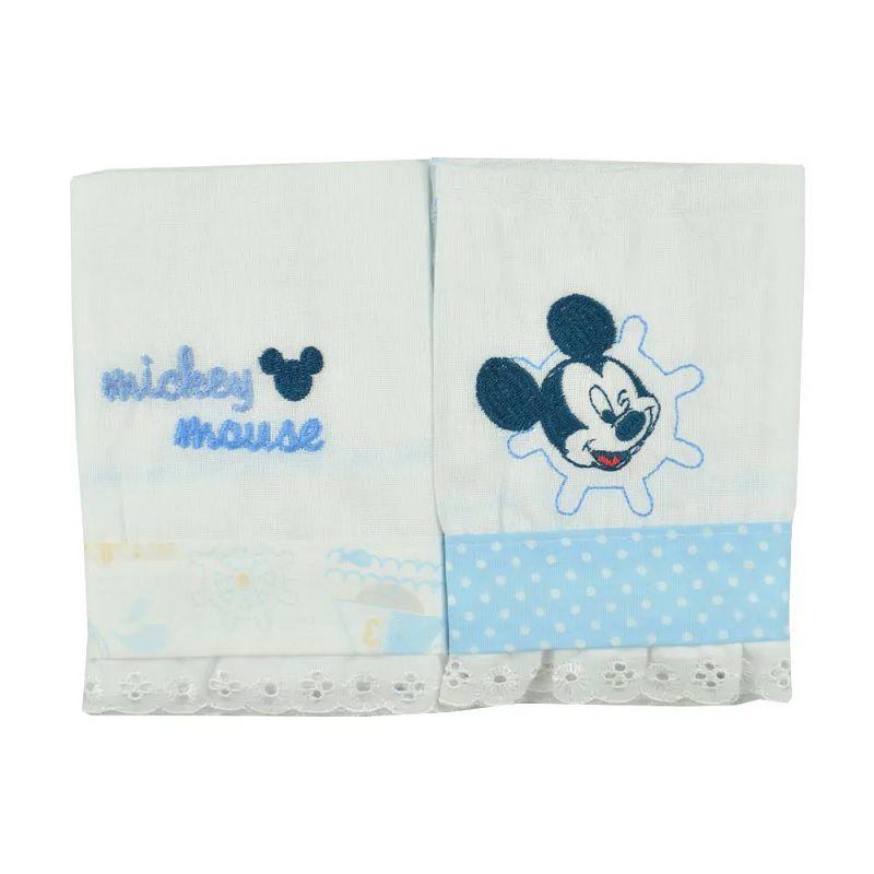 Babetes Paninhos de Boca Mickey Mouse - Minasrey - Kit 2 Unidades