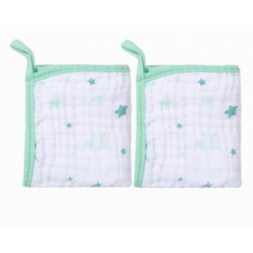 Babetes Paninhos de Boca Soft Celeste - Papi Baby - Kit 2 Unds