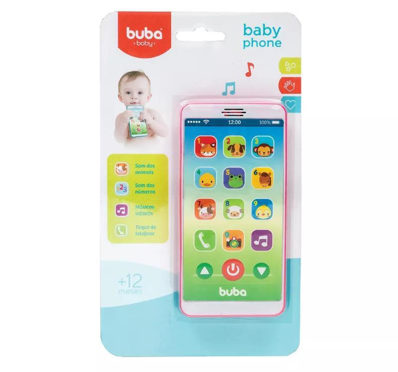 Baby Phone Rosa - Buba Baby