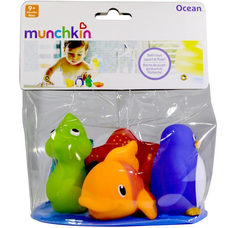 Bichinhos e Acessorios de Banho Embalagem com  4 unds - Munchkin