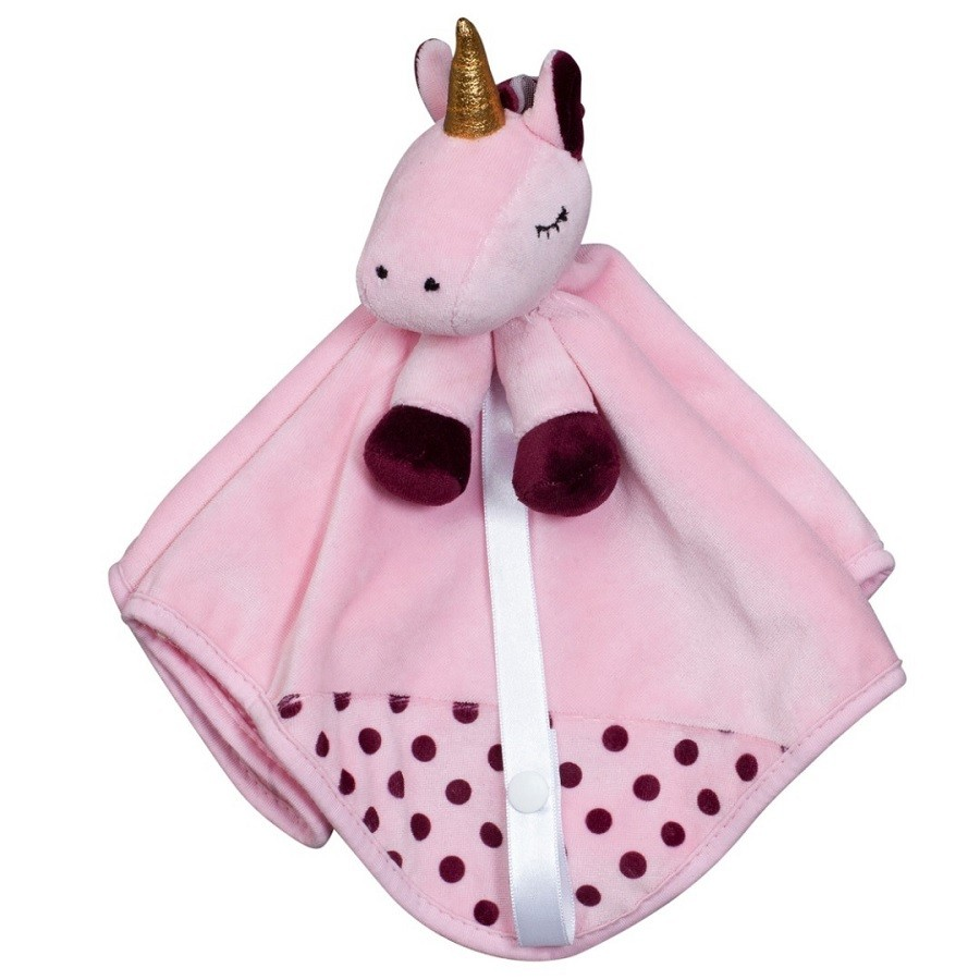Blanket Naninha Prendedor Chupeta Plush Unicórnio Zip Toys