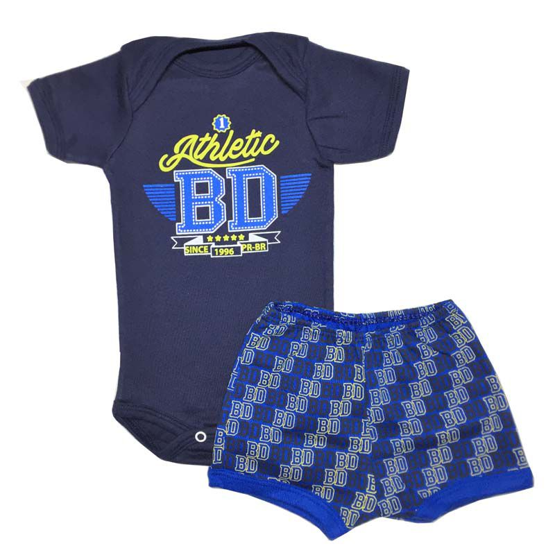 Body Manga Curta e Shorts Athletic - Baby Duck