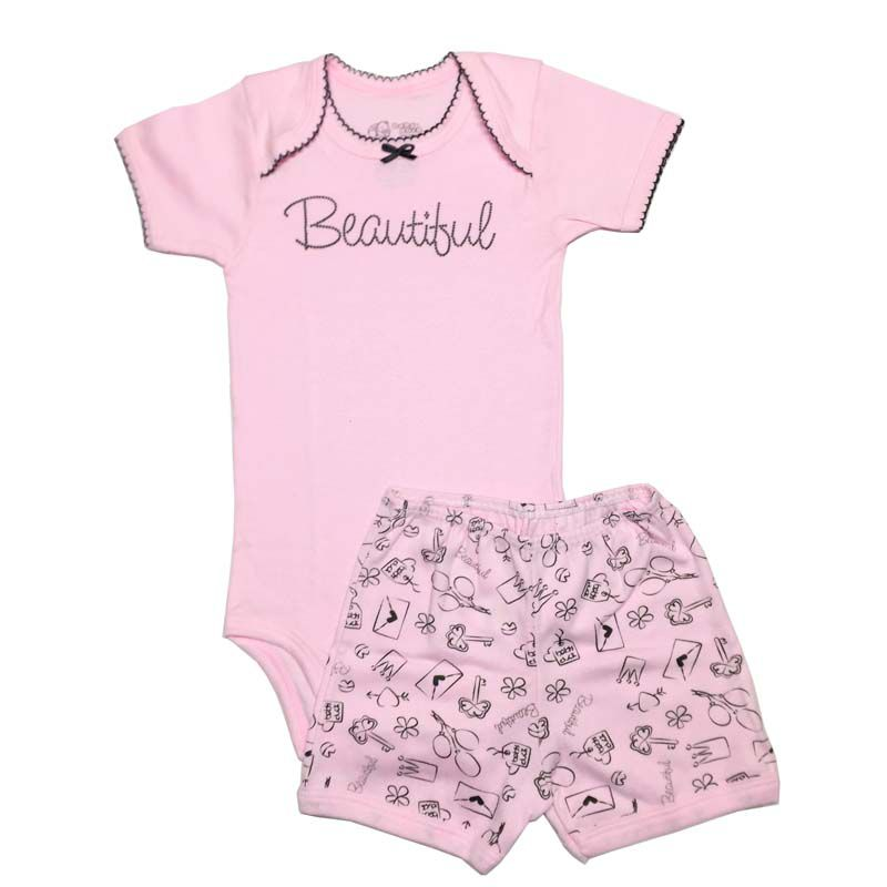 Body Manga Curta e Shorts Beautiful - Baby Duck