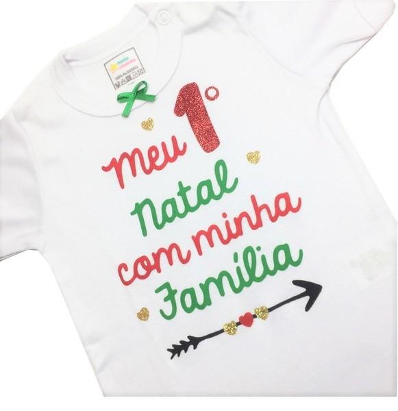 Body meu primeiro Natal com minha família (Menina)