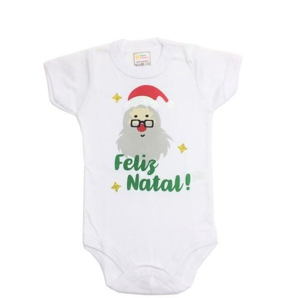 Body Papai Noel Feliz - Minha Estrelinha