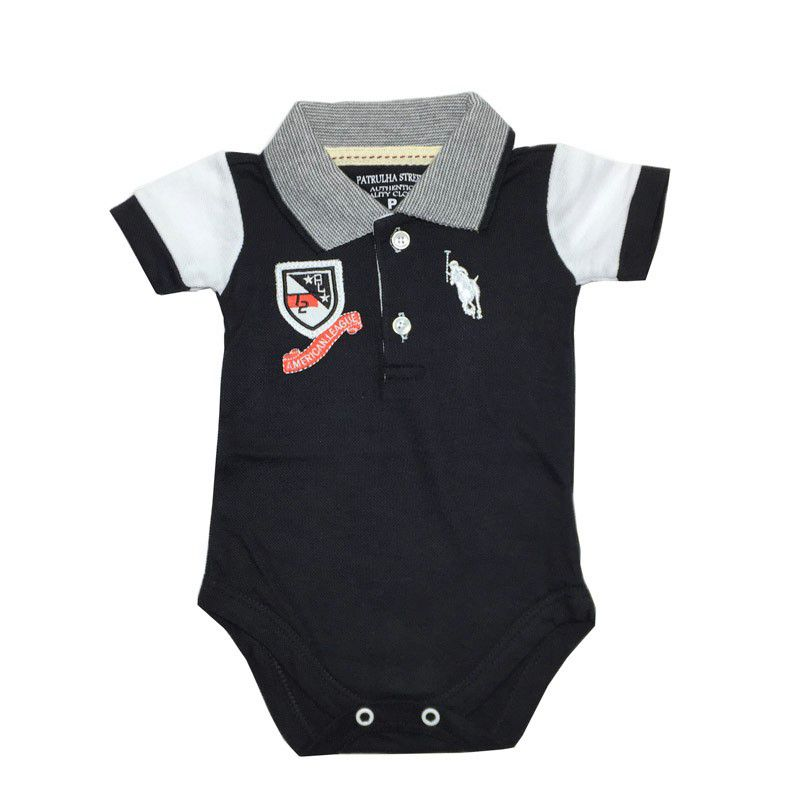Body Polo Preto American League - Patrulha Street