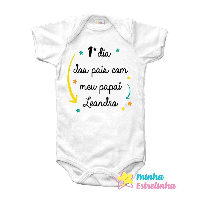 Body primeiro dia dos pais personalizado - Minha Estrelinha