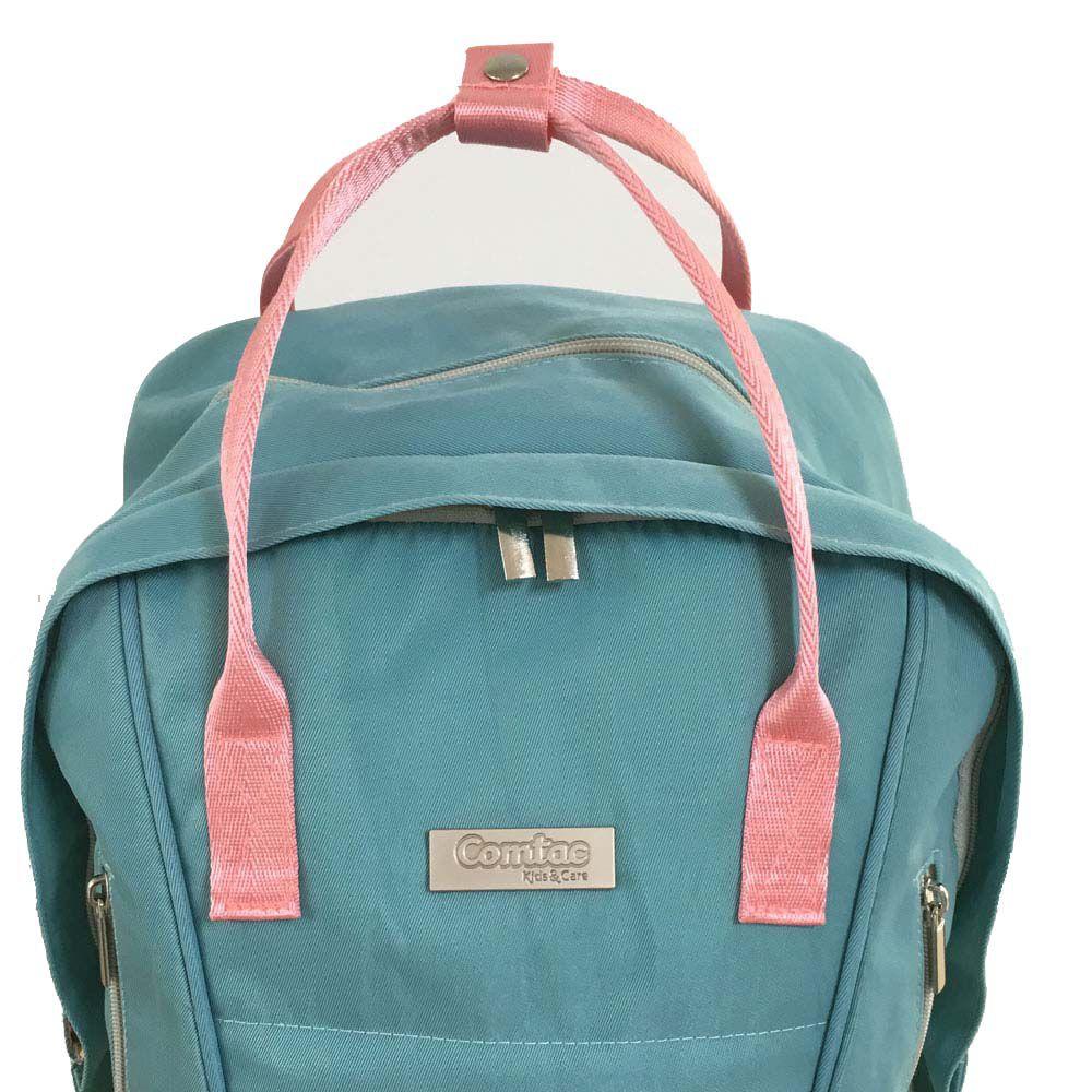 Bolsa Maternidade Multiuso Azul Turquesa - Comtac Kids