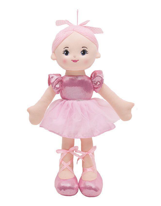 Boneca Bailarina Glamour Rosa - Buba Baby