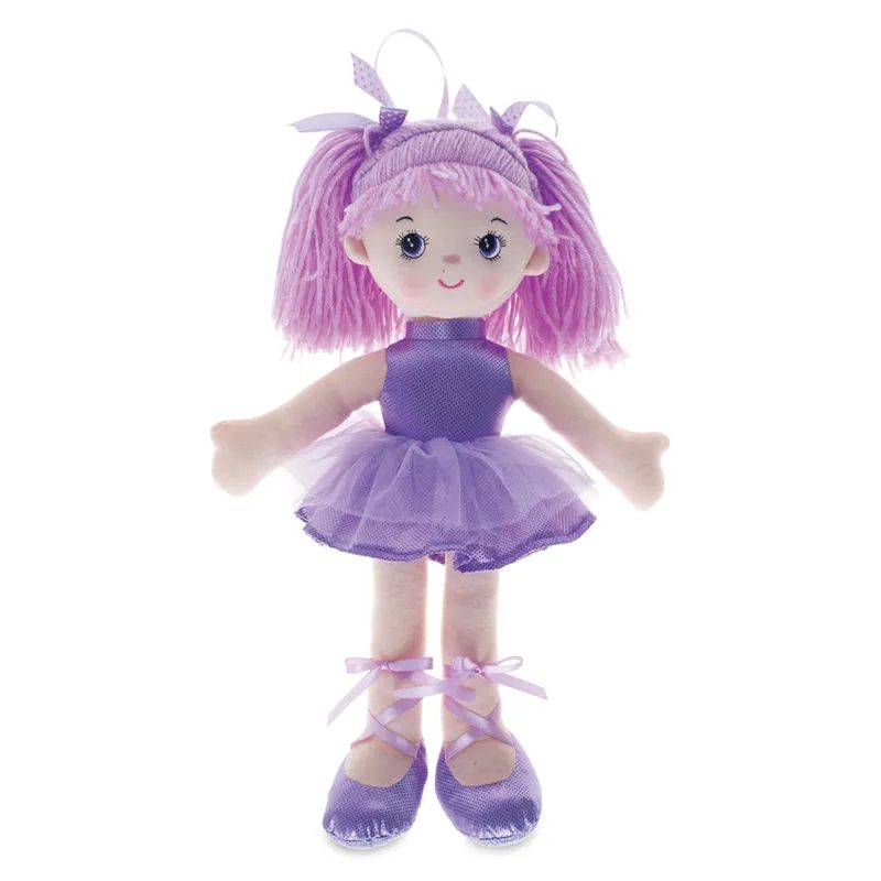 Boneca Bailarina Grande Glitter Lilás - Buba Baby