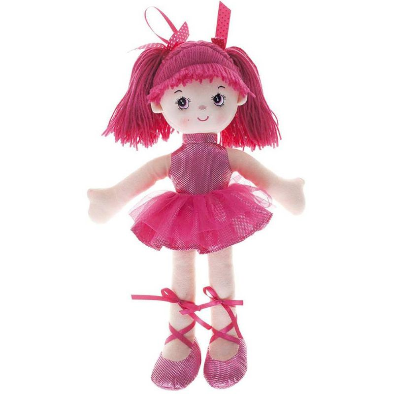 Boneca Bailarina Grande Glitter Pink - Buba Baby