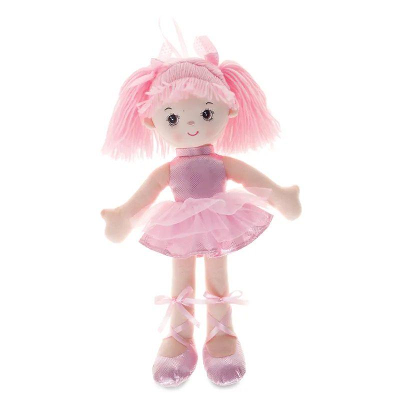 Boneca Bailarina Grande Glitter Rosa - Buba Baby