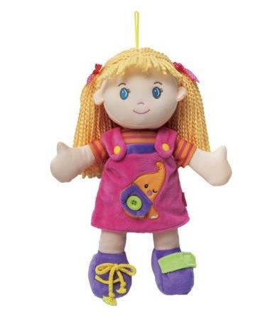 Boneca de pano aprendendo a vestir - Buba Baby