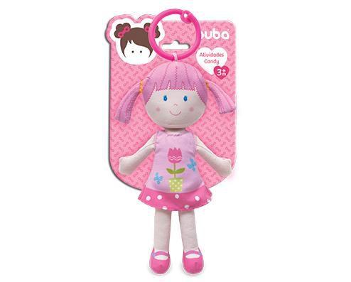 Boneca de Pano Atividades Candy Rosa Borboleta - Buba Baby