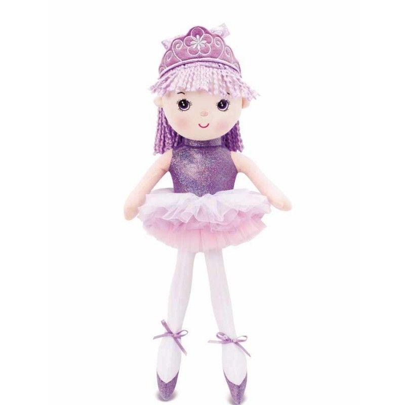 Boneca Princesa Bailarina Lilás - Buba Baby