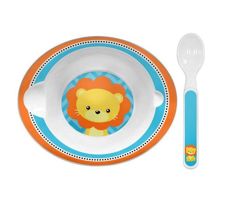 Bowl Animal Fun Leão com Colher - Buba Baby