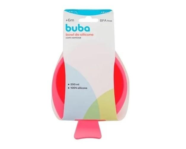 Bowl de Silicone Rosa - Buba Baby