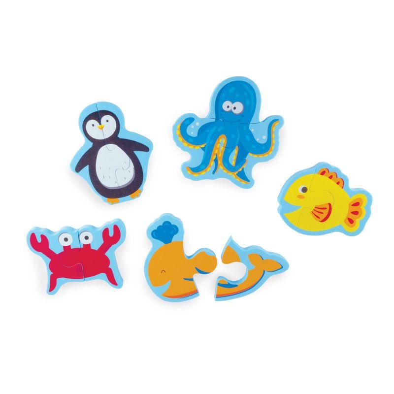 Brinquedo animais marinhos com sacolinha - Buba Baby