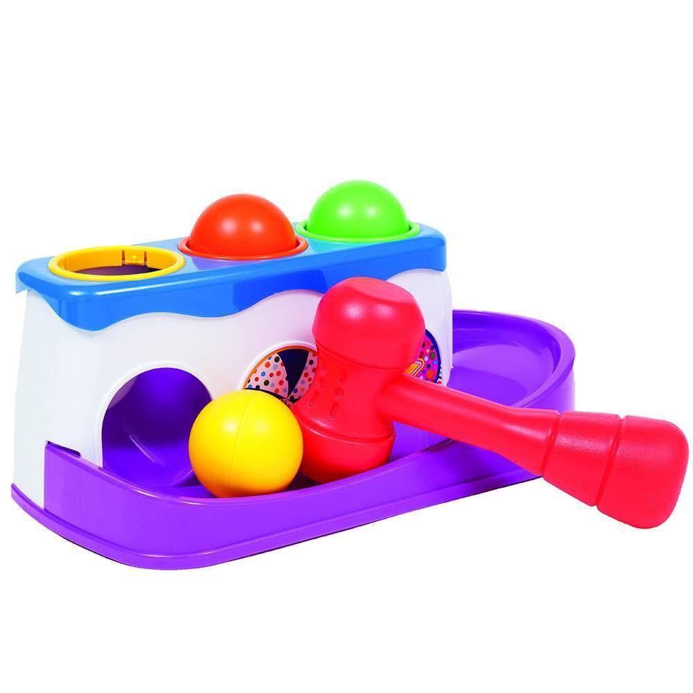 Brinquedo Bate Martelo com Bolinhas - Buba Baby