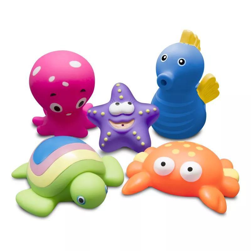Brinquedos para Banho Animais Marinhos 2 - Comtac Kids