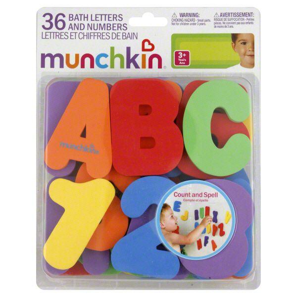 Brinquedos para Banho Letras e Números - Munchkin