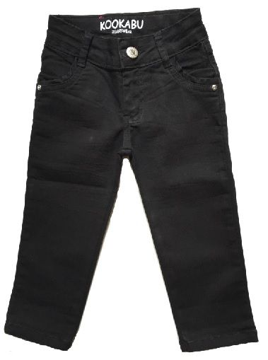 Calça Jeans Preta (Menina) - KooKabu