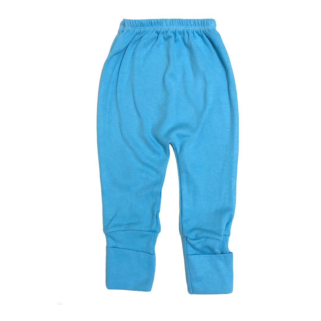 Calça para bebê com pé reversível Suedine - Azul céu