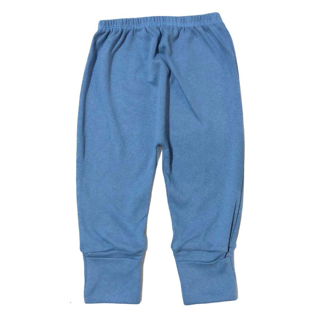 Calça para bebê com pé reversível Suedine - azul jeans