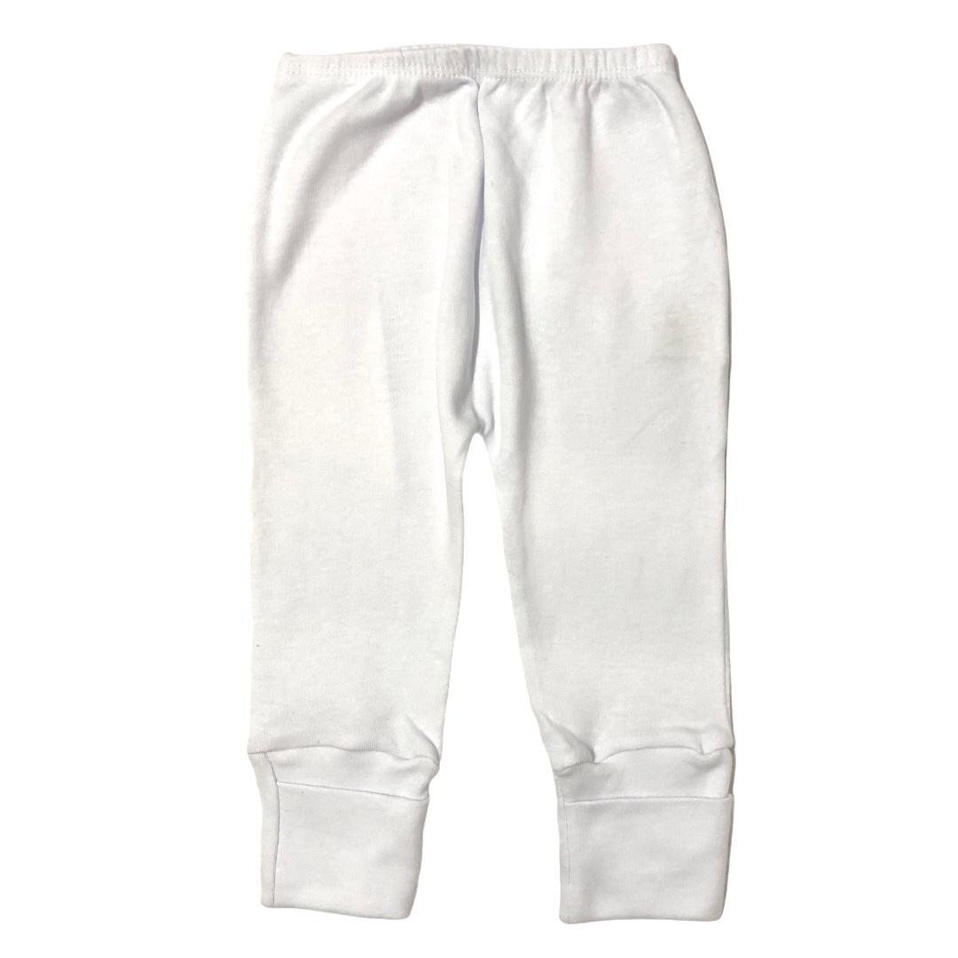 Calça para bebê com pé reversível Suedine - Branco