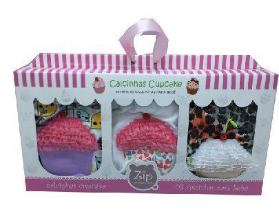 Calcinhas 0 a 6 meses - Zip Toys (Kit Cupcake)