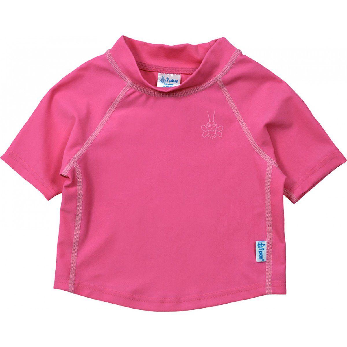 Camisa de Banho Infantil IPlay Manga Curta FPS 50+ Rosa