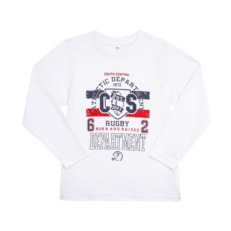 Camiseta Algodão Manga Longa Rugby - Kids