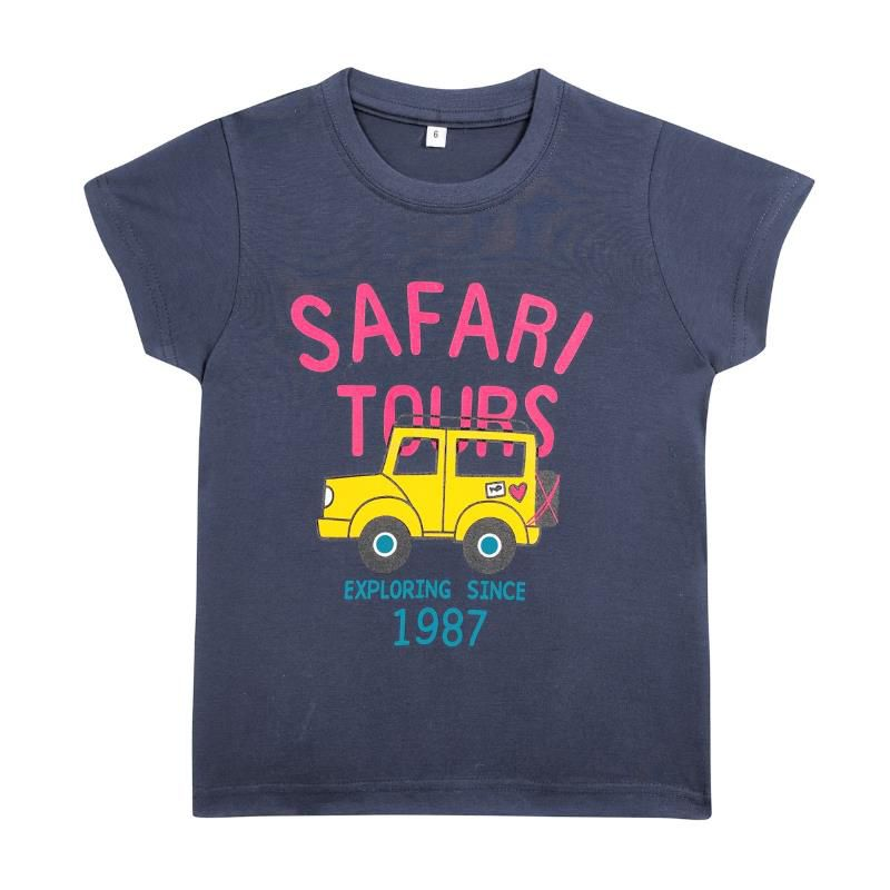 Camiseta Algodão Safari Tours - Kids