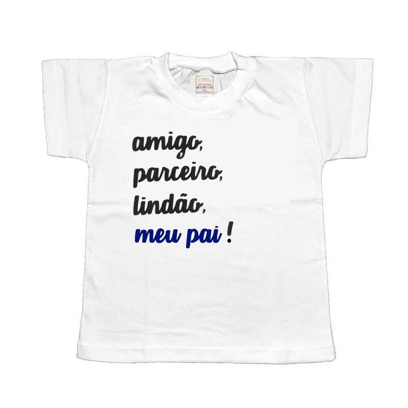 Camiseta dia dos pais Frase - Minha estrelinha
