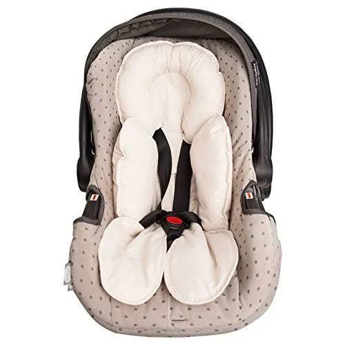 Capa Anatômica Bebê Conforto e Carrinho - Bege - Papi Baby
