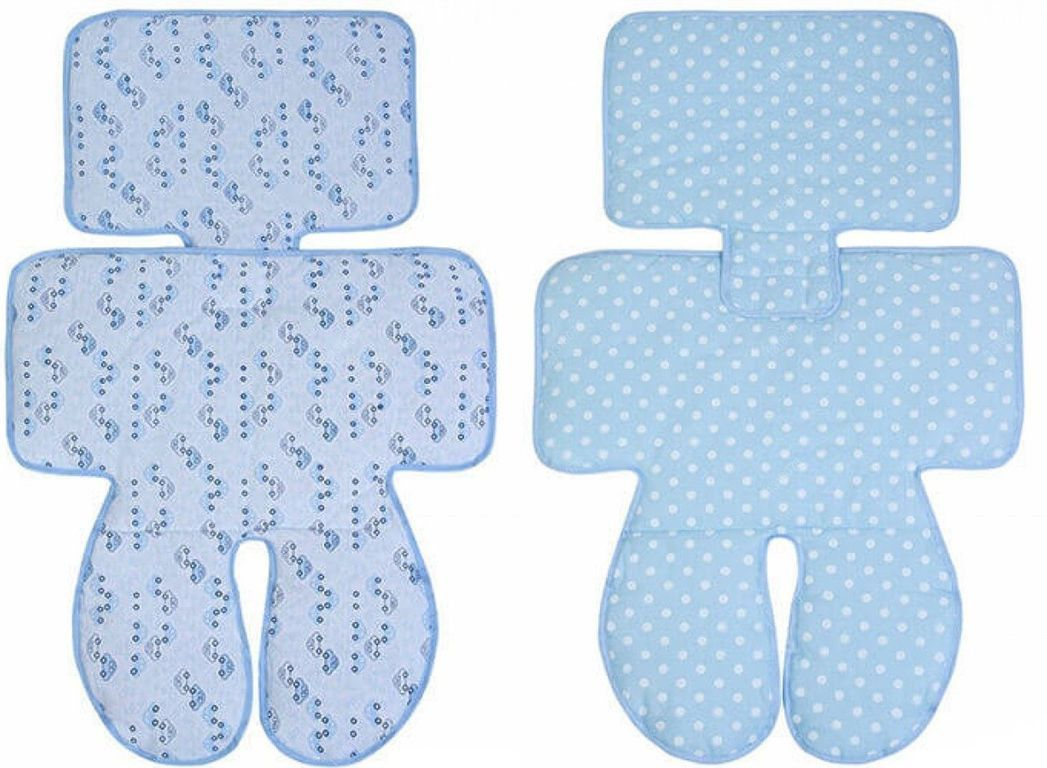 Capa Para Carrinho e Cadeirinha Dupla Face Papi - Azul