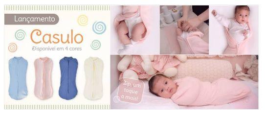 Casulo de Bebê Marfim Com Zíper - Zip Toys